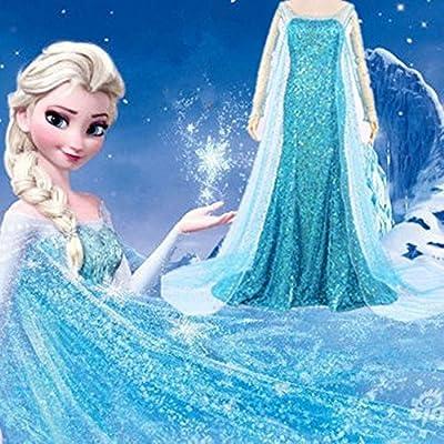 Vestido de noche Disfraz de reina de las nieves mujer Disfraz de ...