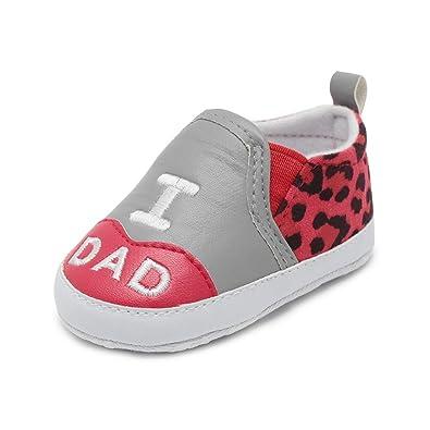 edef3abdee9ac Angelof Imprimé Lettre - Dad Mum I - pour 0-18 Mois Chaussures Confortables  Fille