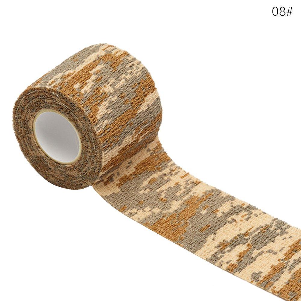 Camouflage Tape Wrap - Stealth Camo Tape Stretch Bandage Cohesive Bandage Woven Bandage Adhesive Bandage Size 2.5cm*4.5m