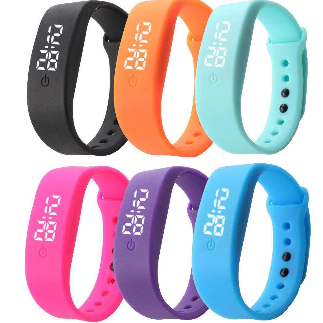 vobome Mode pour Enfants LED Montre num/érique Silicone Sport Bracelet Bracelet de Montres