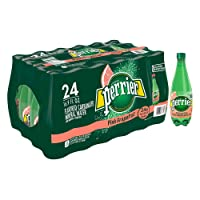 Perrier Pink Grapefruit Flavored Carbonated Mineral Water, 16.9 Fl Oz (24 Pack)...
