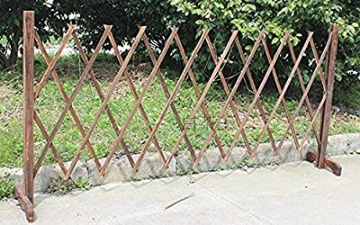 TOPOT Wooden folding Outdoor Lattice Fence