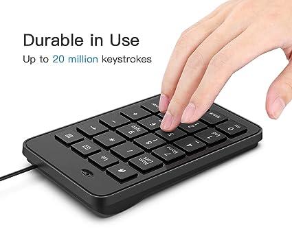 Amazon.com: MoKo Numeric Keypad, Portable Ultra Slim Mini ...