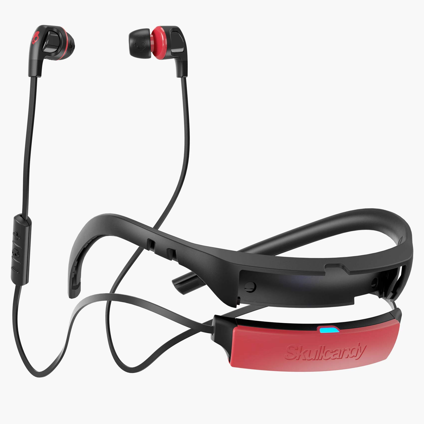 Skullcandy Smokin Buds 2 In Ear Bluetooth Wireless Earbuds Microphone Black Red 878615080294 Ebay
