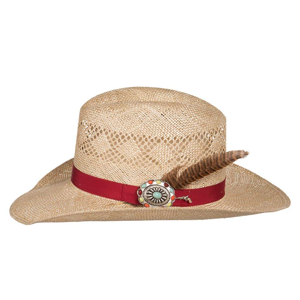 Charlie 1 Horse Hats Womens Stud Finder 3 1/2 Brim Sisal Straw L Natural by Charlie 1 Horse Hats (Image #2)