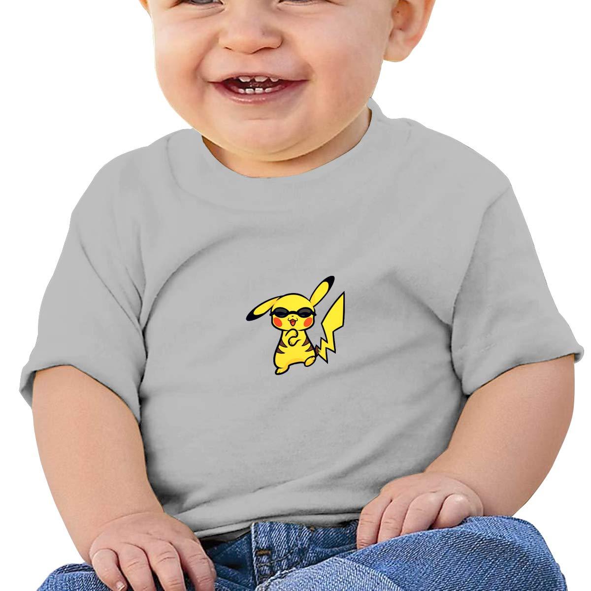 SakanpoAnime Pikachu Toddler//Infant Short Sleeve Cotton T Shirts Gray