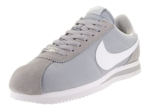 6332c913cb9c5c Nike Men s Cortez Basic Nylon Wolf Grey White Mtllc Silver Casual Shoe 7. 5  Men US  Buy Online at Low Prices in India - Amazon.in