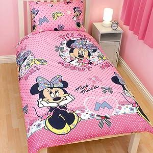 girls minnie mouse bedding sheets set twin bed pink home kitchen. Black Bedroom Furniture Sets. Home Design Ideas