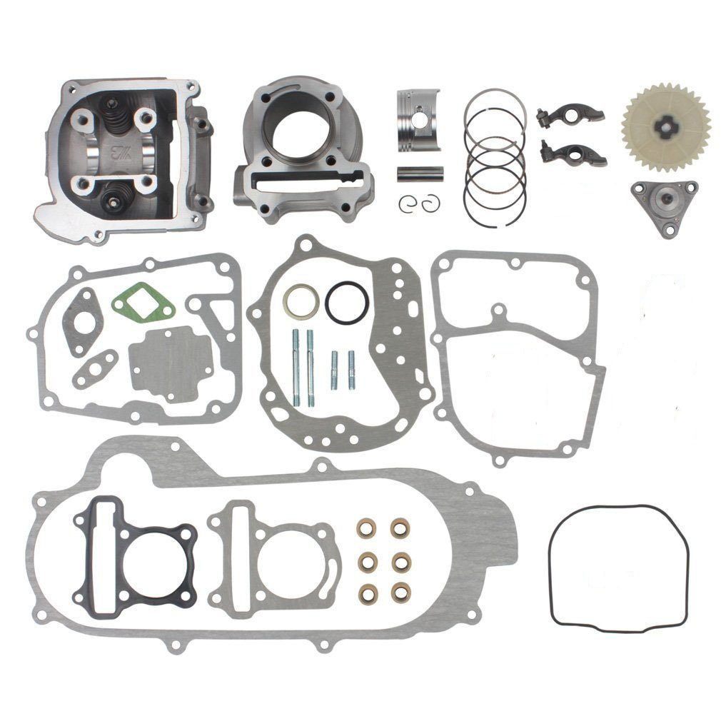 Chanoc 100cc Big Bore Cylinder Kit for GY6 50cc 139QMA 139QMB ATV Scooter Moped (69mm Valve)