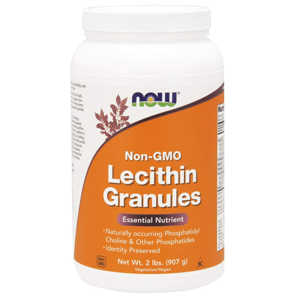 NOW Supplements, Lecithin Granules with naturally occurring Phosphatidyl Choline and Other Phosphatides, 2-Pound by Unknown