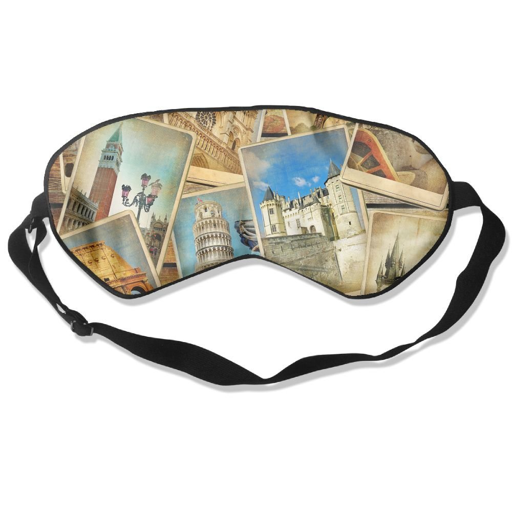 Sleep Mask Travel Wallpaper Eye Cover Blackout Eye Masks,Soothing Puffy Eyes,Dark Circles,Stress,Breathable Blindfold by MB32