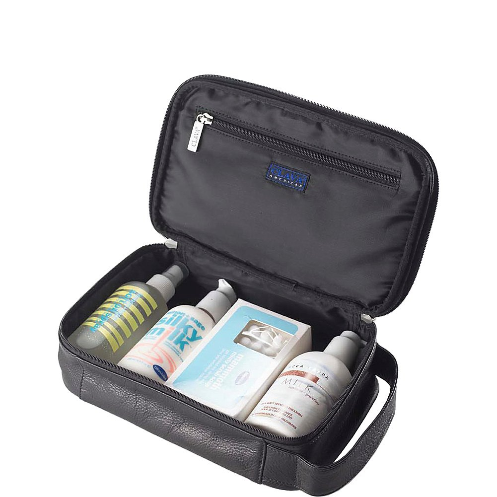 Clava Tuscan Leather Accessory//Toiletry Kit 107BLK