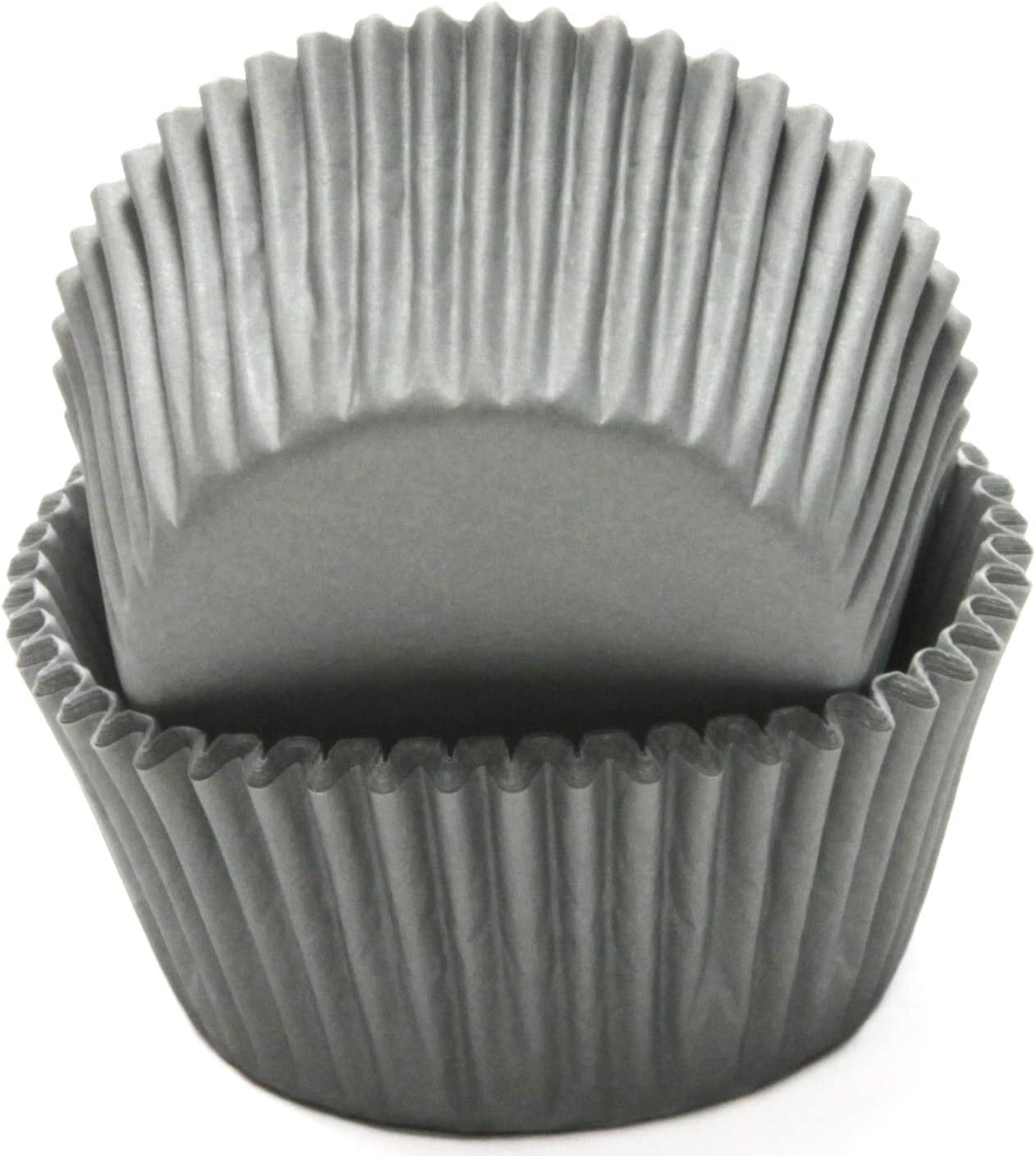 Chef Craft Classic Cupcake Liners, 50 count, Grey