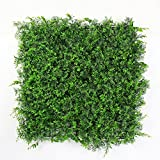 ULAND Artificial Boxwood Hedges Panels, Plastic Green Plant Fence for Outdoor, Privacy Fence Screen, Wall Garden Home Decoration, 20''x20''/pc (12, Najas)
