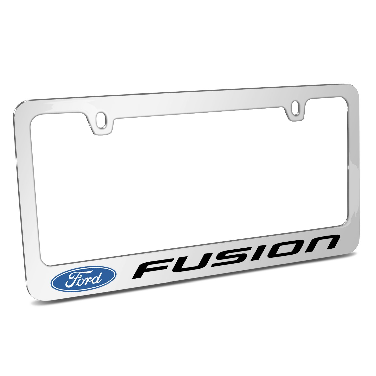 Ford Fusion Mirror Chrome Metal License Plate Frame by iPick Image, Official Licensed Product, Made in the USA
