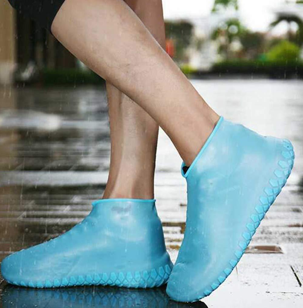 lavables botas de lluvia de silicona KEAIOU antideslizantes para viajes Fundas de zapatos reutilizables para exteriores Amarillo calzado de protecci/ón para mujeres y hombres nieve Small