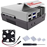 GeeekPi Retro Gaming Nes4Pi Case for Raspberry Pi 4 Model B, Raspberry Pi 4 Case with Fan Raspberry Pi Cooling Fan…