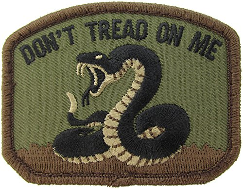 (Woodland Camo) - Don`t Tread On Me Morale Patch