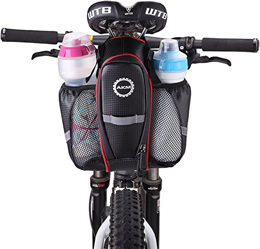 AKM caja de marco bicicleta/montaña/bicicleta 5,7/6,0 pulgadas résister al agua, caja de marco para smartphone manillar Tpu con pantalla táctil, rojo: Amazon.es: Deportes y aire libre