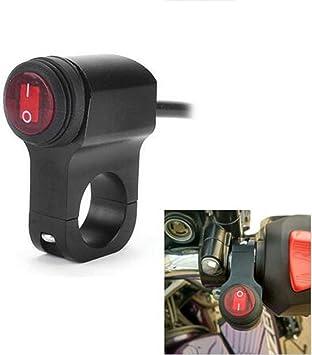 Universal Motorcycle Handlebar Switch,12V 16A Motorcycle Waterproof Handlebar Switch Motorbike Headlight Fog Spot light On Off Switch