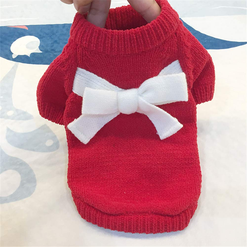Howstar Cute Pets Clothes Wool Sweater Winter Warm Sweatshirts for Dogs Cats Apparel Puppy Knitted Outwear