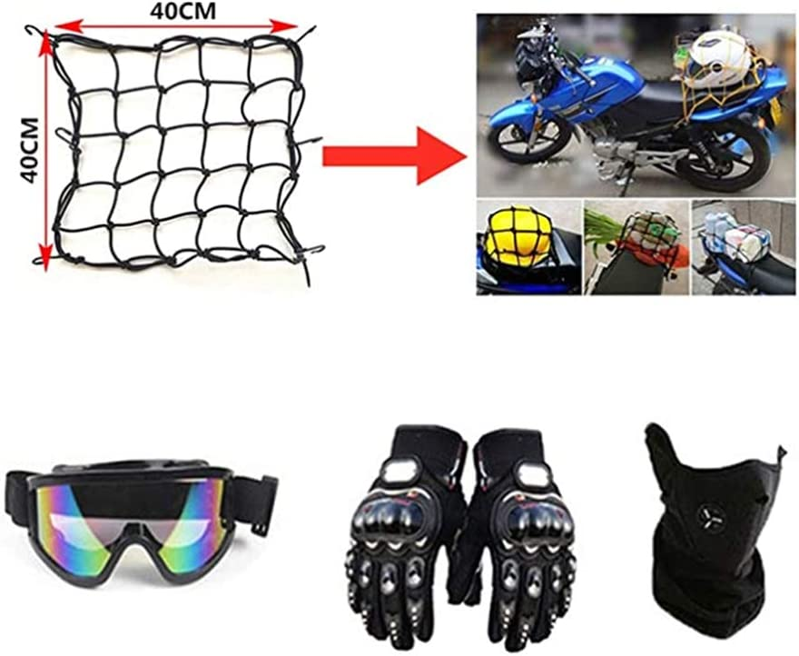 BHGJ Casco Motocross Ni/ño,Dise/ñado con FOX Cascos De Motocross Cascos de Cross de Moto Set con Gafas//M/áscara//Guantes(FOX,naranja) S