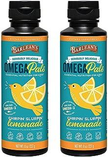 product image for Barlean's Kid's Omega Swirl Fish Oil, Lemonade Flavor, 8-Ounce Bottles (Pack of 2)