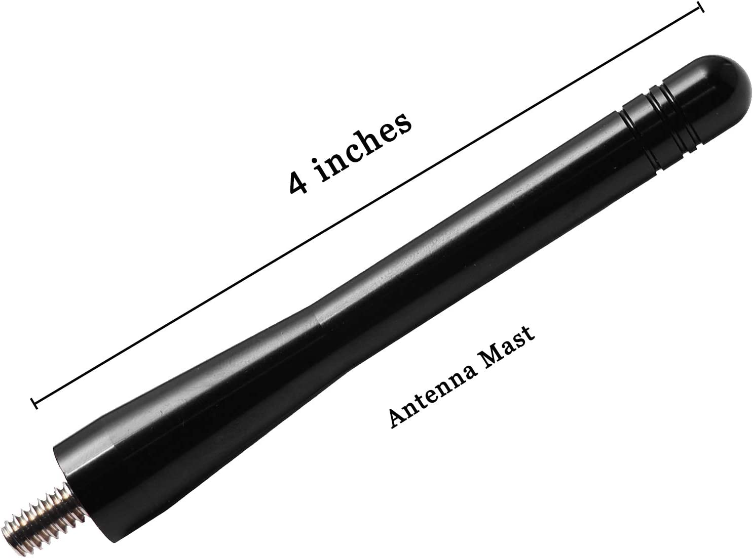 4 inches-Black JAPower Replacement Antenna Compatible with Jeep Commander XK 2006-2010
