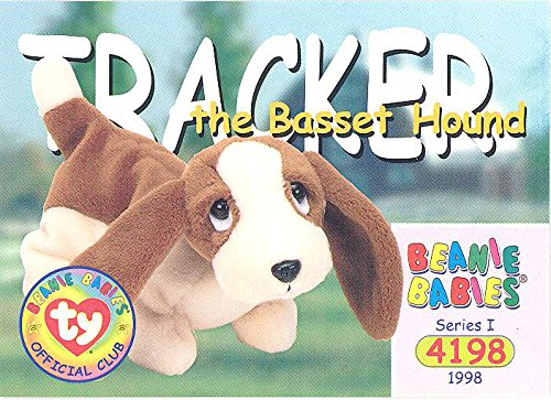 BBOC Cards TY Beanie Babies Series 1 Common - Tracker The Basset Hound
