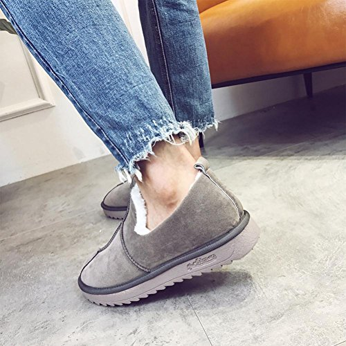 Warm Hatop Snow Short Shoes Gray Lined Womens Winter Neutral Flat Boots Shoes Ankle gSYrqtSw