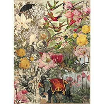 Rice Paper for decoupage~ 11,1 x 15,11 inches. Made in Russia (Flowers,  Eden)