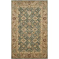 Safavieh Antiquities Collection Oriental Persian Wool Area Rug, 4 x 6, Teal Blue/Taupe