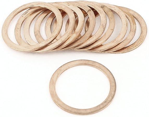 Lot de 10 rondelles en cuivre joint anneau diamètre intérieur 30 mm