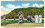 North Carolina - Qualla Reservation; Cherokee Indians Dance the Corn Dance (36x54 Giclee Gallery Print, Wall Decor Travel Poster)
