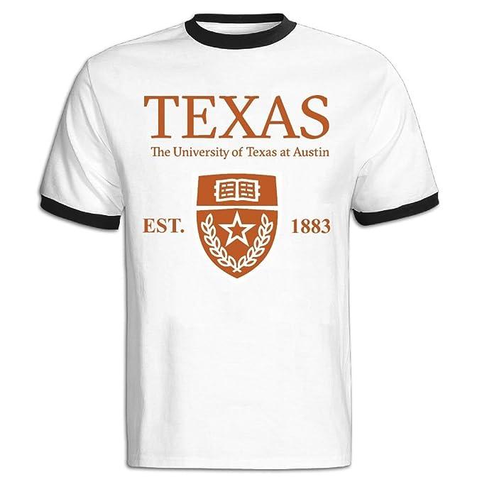 91295cf25dfc68 Amazon.com: QTHOO Men's O Neck University of Texas at Austin Established  1883 Short Sleeve Baseball T-Shirt: Clothing