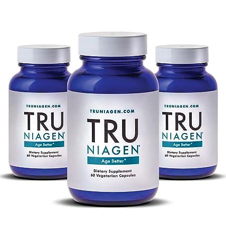 Tru Niagen® (Nicotinamide Riboside) | Advanced Nad+ Booster | Vitamin B3 | Next Level Cellular Energy & Repair | 300mg / 2 Capsules | 60 Vegetarian Capsules Per Bottle. by Tru Niagen