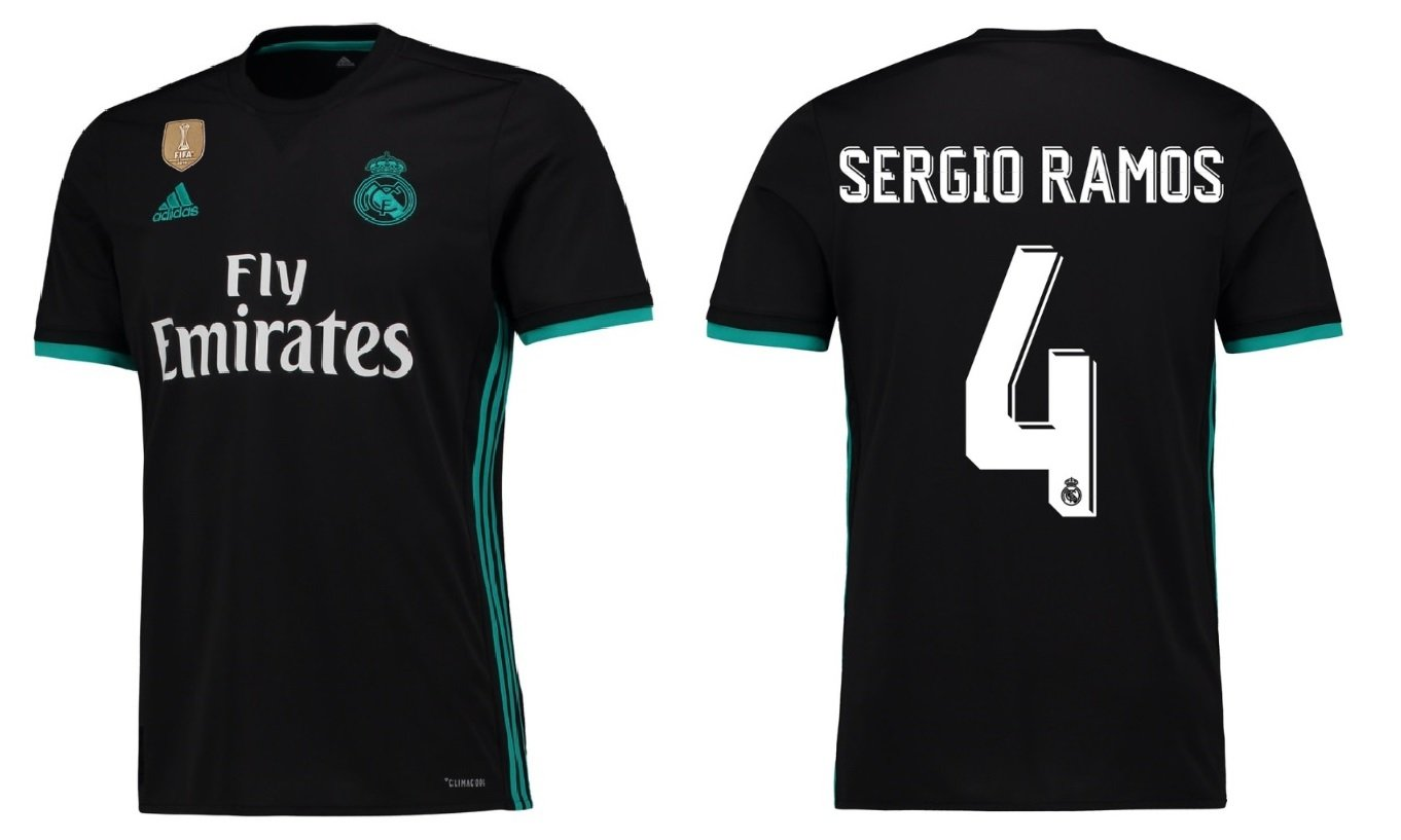 Trikot Kinder Real Madrid 2017-2018 Away WC - Sergio Ramos 4