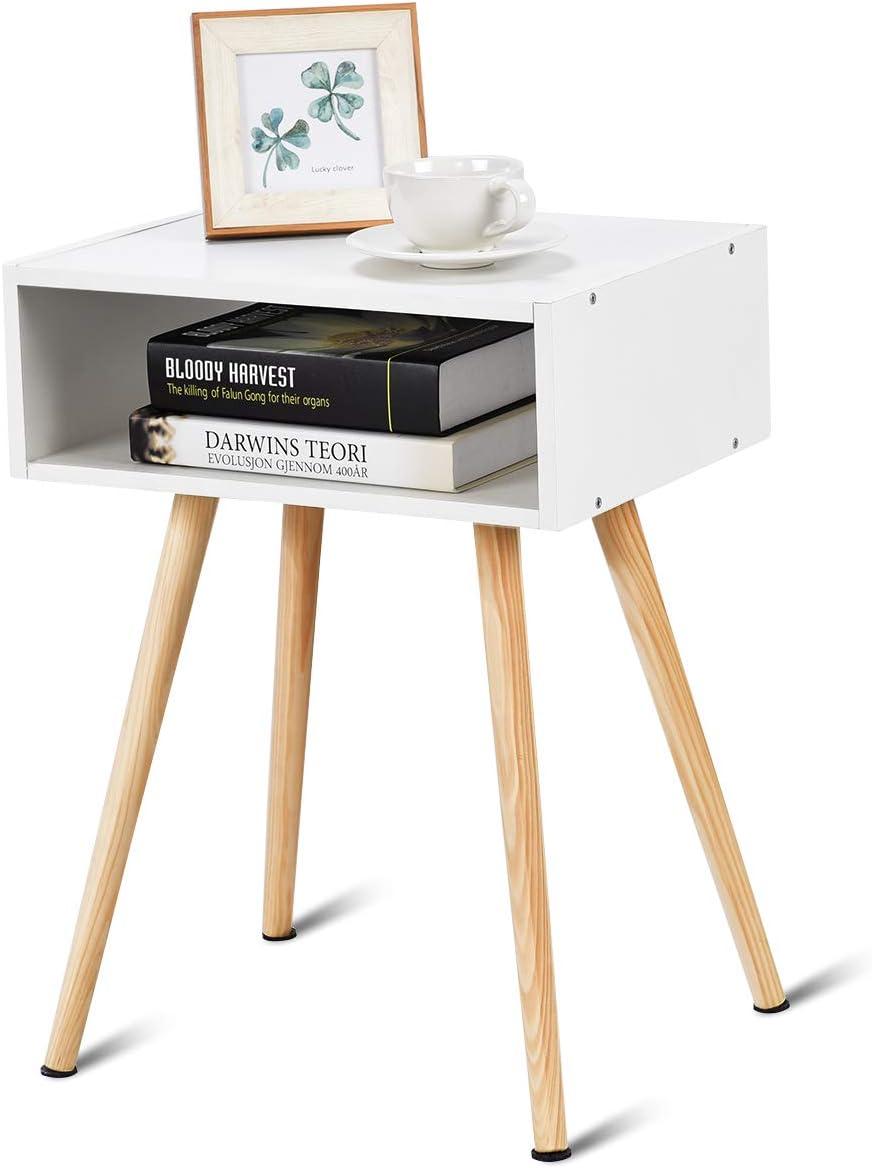 COSTWAY Nachttisch Nachtkommode Nachtschrank Nachtkonsole Beistelltisch Flurkommode Flurtisch Ablagetisch Telefontisch 40x30x44cm