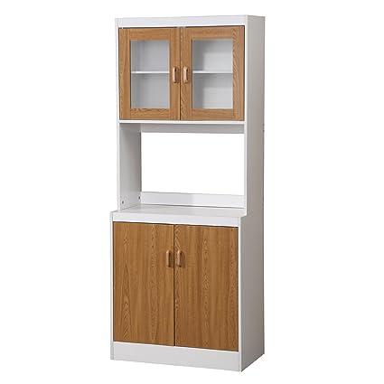 tall kitchen cabinet with doors storage home source 155brd tall kitchen cabinet with solid light brown doors 29 16 amazoncom