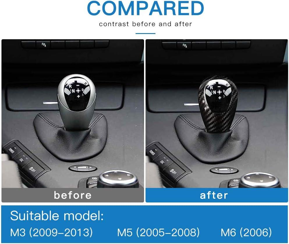Black AIRSPEED Carbon Fiber Gear Shift Knob Cover Interior Trim for BMW M3 M5 M6 Accessories