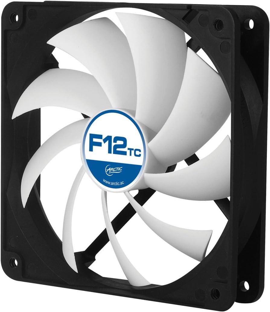 ARCTIC F12 TC - Ventilador Caja estándar de 120 mm, Extremadamente silencioso, Carcasa estándar, Posibilidad de Instalar en Dos direcciones
