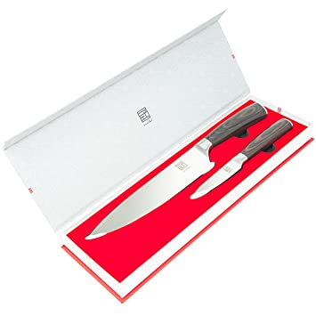Amazon.com: ISSIKI Cutlery 2 Kitchen Knives Set - Chef Knife 8 ...