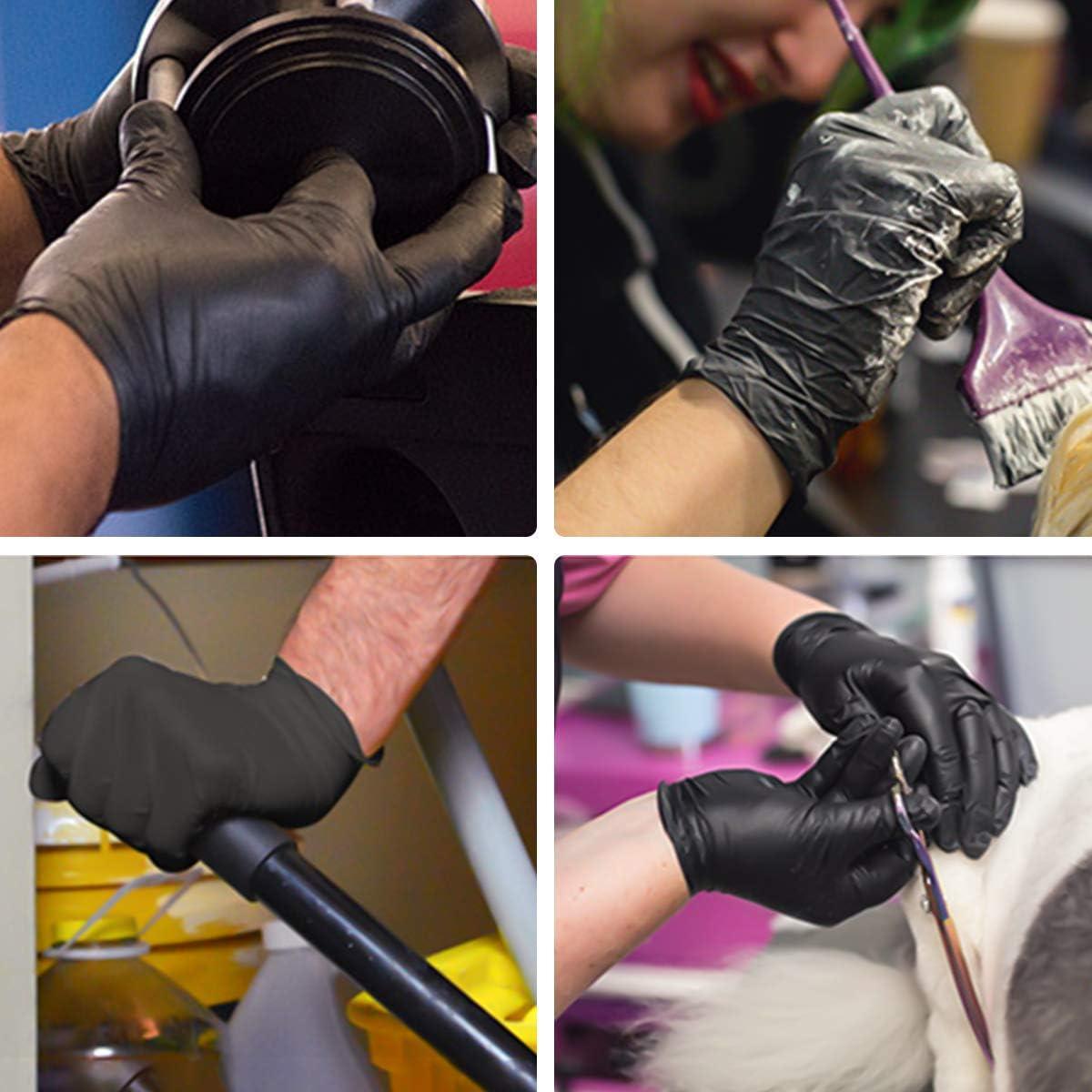 Handschuhe in Lebensmittelqualit/ät latexfrei puderfrei Mittel Janolia Nitril Einweghandschuhe 100 St/ück