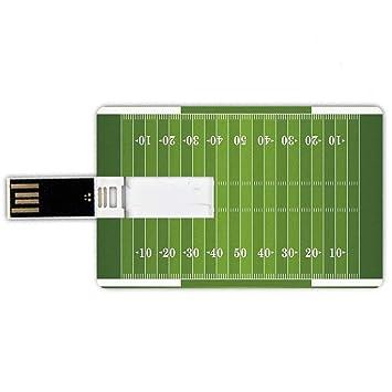 8GB Forma de tarjeta de crédito de unidades flash USB Fútbol ...