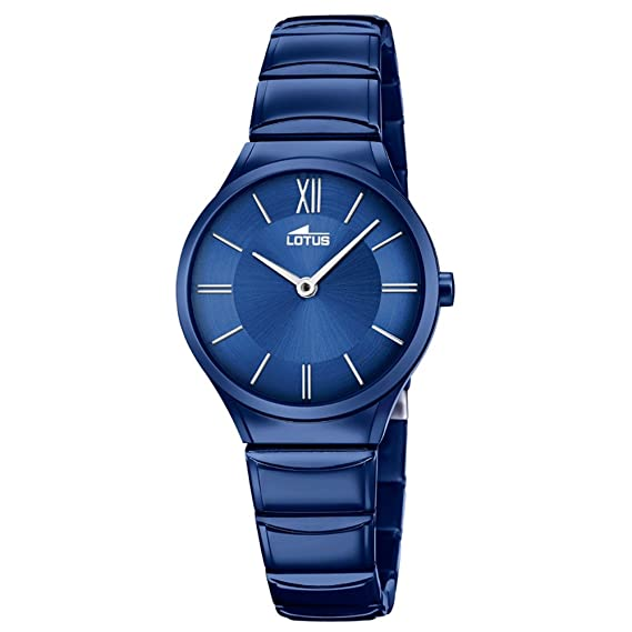 988999ae4fa5 Reloj Lotus Mujer 18491 1 Acero Azul  Amazon.es  Relojes