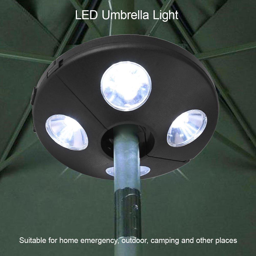 Yosooo Patio Umbrella Pole Light 24 LED Battery Operate Outdoor Night Lamp Camping Tent Pole Mounted or Hung Anywhere by Yosooo (Image #7)