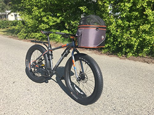 DoggyRide Cocoon Pet Carrier, Airline Carrier, car seat and Ready for use as Bicycle Basket, Large, Anthracite/Orange by DoggyRide (Image #2)