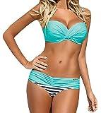 Lukitty Women's Push up Bikini Set Two Piece Strapless Bathing Suit Swimsuit
