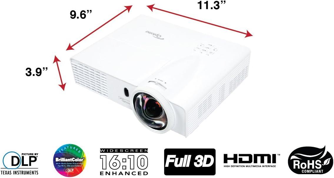 Optoma GT760 - Proyector (3400 lúmenes ANSI, DLP, WXGA (1280x800 ...
