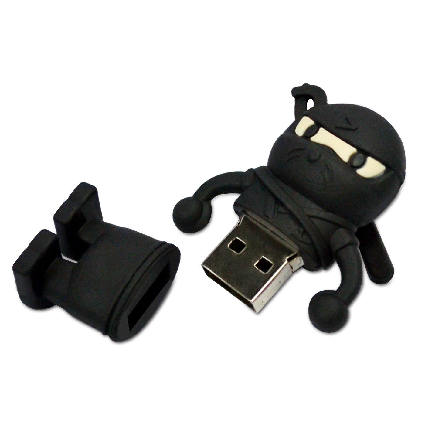 NR31500080016 Hi-SPEED MEMORIA USB STICK 16GB FLASH NINJA LUCHADOR NEGRO